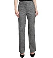 M&S Collection New Wool Blend Herringbone Trousers with Cashmere