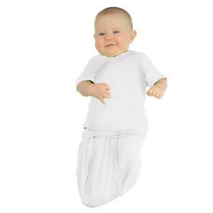 TrueWomb Weaning Swaddle - White (Small Newborn) 6.5 -13 LBS.)