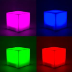 B&Q LED Colour changing Cube Light