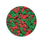 Edible Confetti Sprinkles Cake Cookie Cupcake Quins Christmas Mini Red and Green Trees 8 Ounces