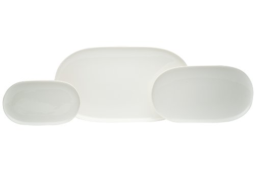 Red Vanilla Everytime White 3-Piece Platter Set (Red Vanilla Dishes compare prices)