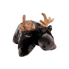 "Pillow Pets Brown Pillow Pet- PeeWee Moose - 11"" - 1"