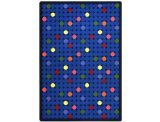"Joy Carpets Playful Patterns Children's Spot On Area Rug, Rainbow, 3'10"" x 5'4"" - 1"
