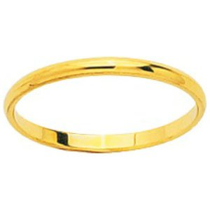 So Chic Jewels - 18k Yellow Gold 1.5 mm Classic Wedding Band Ring