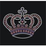 -JUMBO- CROWN Iron On Rhinestone Crystal Hot Fix T-shirt Transfer 15CM Width *12CM