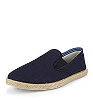 Elasticated Panelled Espadrilles