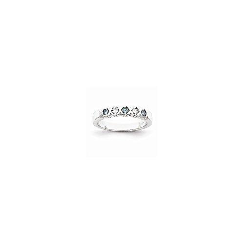 14K White Gold Blue Dia/Aa Ring Diamond Quality Aa (I1 Clarity, G-I Color)