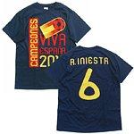 2010 スペイン代表 ウィナーズTシャツ #6 イニエスタ (M)