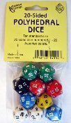 20-Sided Polyhedral Dice, Set of 10