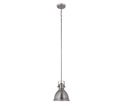 Capital Lighting 4431AN Transitional 1-Light Pendant, Antique Nickel Finish