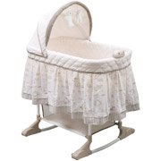 Delta Enterprises Playtime Rocking Bassinet, Beige jungle theme