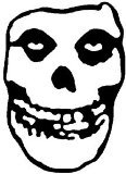 "CandD Visionary Misfits - Skull 10"" Rub-On Sticker Black"