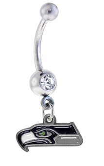 Seattle Seahawks NFL Sexy Belly Navel Ring at Amazon.com