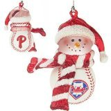 "Philadelphia Phillies 3"" Acrylic Striped Home Run Snowman - MLB Baseball"