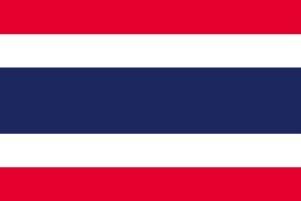 タイ 国旗 [ ミニフラッグ ポール 吸盤付き 高級テトロン製 ]