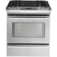 "Frigidaire Fpgs3085Kf 30"" Slide-In Gas Range With Powerplus Preheat And True Convection, Stainless Steel"