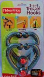 Fisher Price 3 in 1 Travel Hooks for Bags