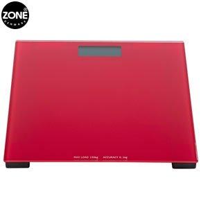 Image of Zone Denmark Confetti Red Bathroom Scales (B0079XA4ZW)