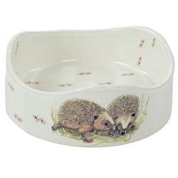 Hedgehog Round Ceramic Decorated Feeding Bowl