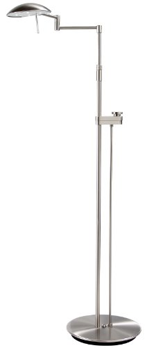 Holtkoetter 6317Ledsld Sn Led Floor Lamp With Side Line Dimmer, Satin Nickel