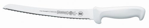 Mundial W5621-10 10-Inch  Curved Micro-Serrated Edge Bread Knife, White