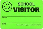 School Visitor Badge Security Stickers