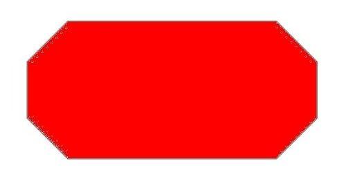 Haftetiketten handauszeichner pour 26 x 12 mm avec sicherheitsschnitt rouge