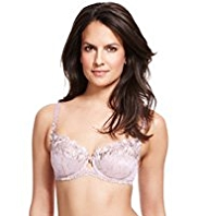 Per Una Floral Embroidered Non-Padded B-DD Bra