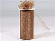 "Tulle Roll 6"" By 75 Ft-antique Gold"