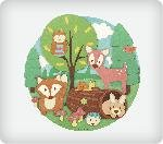 Woodland Buddies Personalized Edible Image Cake Topper