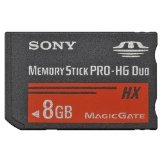 Sony 8GB Memory Stick Pro Duo Card (MSHX8B)