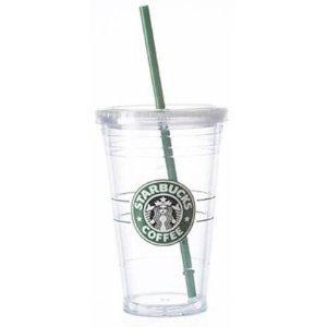 Amazon Com Starbucks 16 Ounce Clear Acrylic Insulated