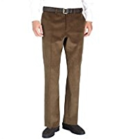 Big & Tall Winter Weight Pure Cotton Flat Front Corduroy Trousers