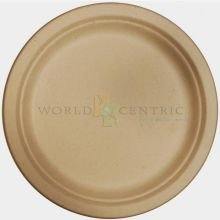 "World Centric's 100% Biodegradable, 100% Compostable Bagasse 9"" Plates (Package of 200)"