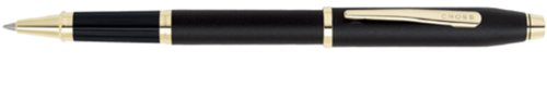 Cross Century II, Black, Selectip Rolling Ball Pen with 23 Karat Gold Plated Appointments (2504)