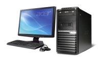Acer Veriton M480G - Micro-tour - 1 x P E5400 / 2.7 GHz - RAM 2 Go - Disque dur 1 x 320 Go - graveur de DVD - GMA X4500