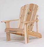 University of Kansas Jayhawks Logo Adirondack Chair with 23 inch Seat Width