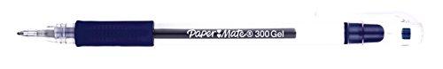 Paper Mate 300 - Juego de bolígrafos de tinta de gel (2 unidades), color azul