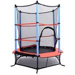 Best Price! Aosom 55 Kids Jumping Trampoline & Enclosure Set