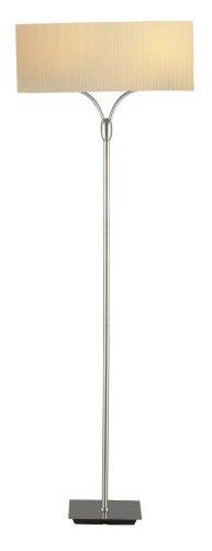 Adesso 3445-22 Wishbone Floor Lamp, Satin Steel 22 Wishbone