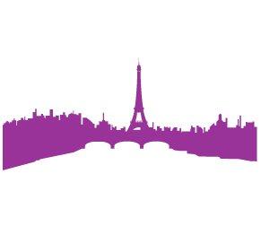 Casa decorazione cittˆ Parigi, adesivi in vinile, H = 25cm, W = 50cm