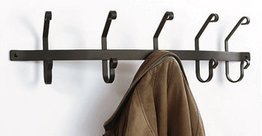 Iron Coat Bar with 5 hooks