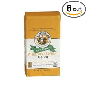 King Arthur Organic White Whole Wheat Flour, 5 Pound -- 6 per case.
