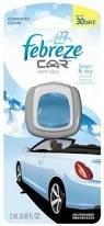 Febreze 2 Ml (0.06 Fl Oz) Car Vent Clips Air Freshener And Odor Eliminator, Linen And Sky Scent front-176860