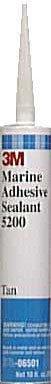3M(TM) Marine Adhesive/Sealant 5200 06501, 1/10 Gallon, Tan [PRICE is per CARTRIDGE]