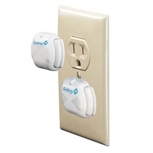 Safety 1st 8 Count Deluxe Press Fit Outlet Plugs - 2 Packs - 1