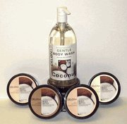 DELON Coconut Body Butter & Body Wash 5 PC Skin Care Set