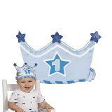 1st Birthday Boy Crown Headband - 1