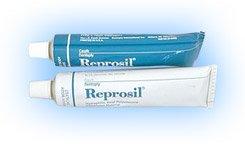 Dentsply Reprosil Tubes Heavy Body Green vinyl polysiloxane Standard package: 1 - 90 ml tube each of Base and Catalys