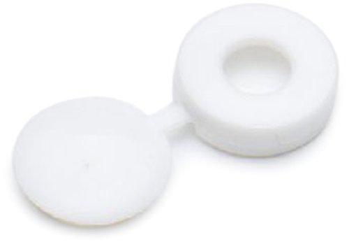 Bulk Hardware BH01144 Screw Cup and Covers to Fit No. 6/ No. 8 Screws - White (Pack of 50)